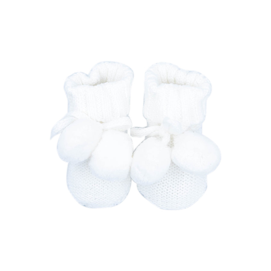 Knitted Booties White