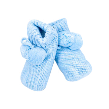Knitted Booties Sky Blue
