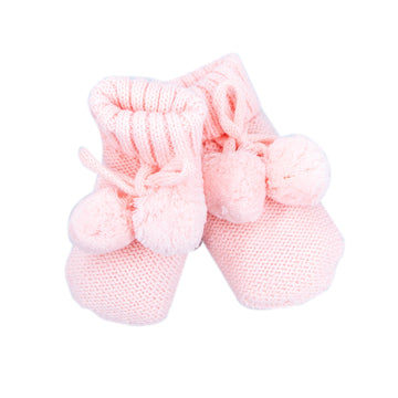 Knitted Booties Pink