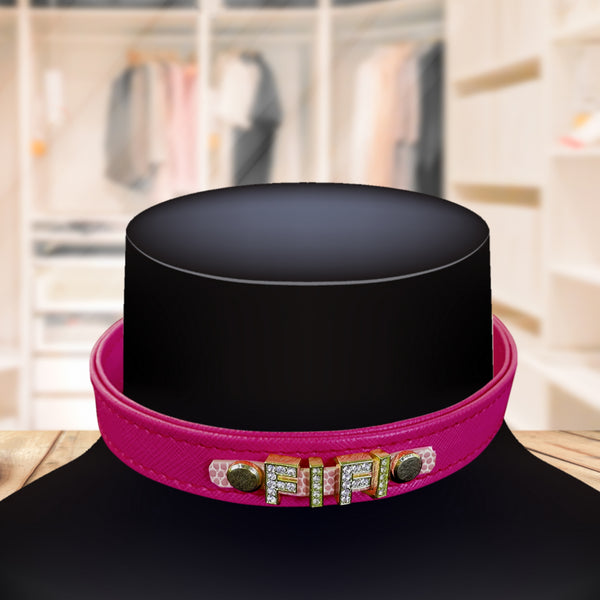 Personalised Pet Collar Lipstick Pink