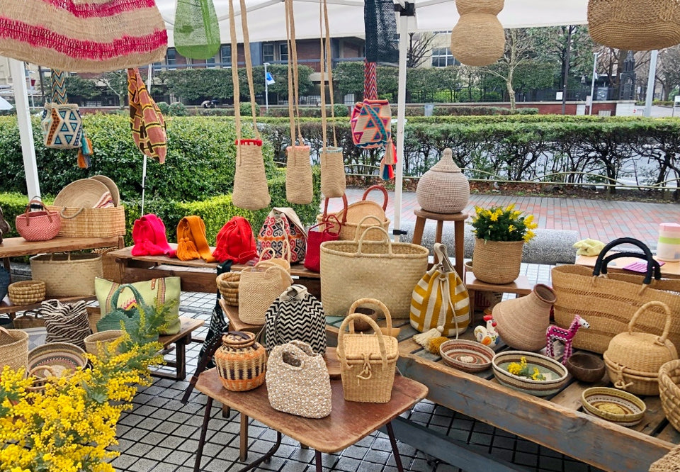 handmade baskets and bags