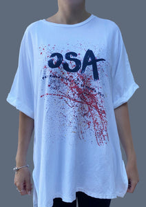 T-Shirt Over stampa Osa