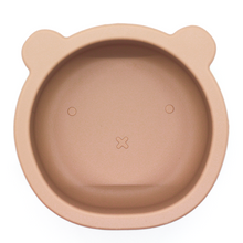 Load image into Gallery viewer, Chews Domi | Silicone Modern Bear Suction Bowl (Desert Taupe)