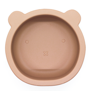 Chews Domi | Silicone Modern Bear Suction Bowl (Desert Taupe)