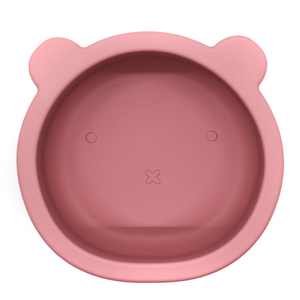 Chews Domi | Silicone Modern Bear Suction Bowl (Dusty Pink)