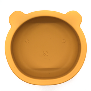 Chews Domi | Silicone Modern Bear Suction Bowl (Honey)