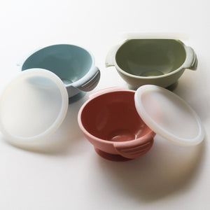 Chews Domi | Silicone Suction Bowl in Ether