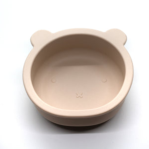 Chews Domi | Silicone Modern Bear Suction Bowl (Oatmeal)