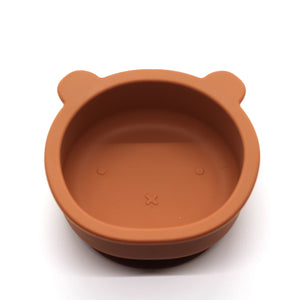 Chews Domi | Silicone Modern Bear Suction Bowl (Terra Clay)