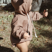 Load image into Gallery viewer, Oversized Hoodie Romper (Oatmeal)