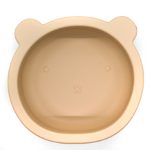Load image into Gallery viewer, Chews Domi | Silicone Modern Bear Suction Bowl (Oatmeal)