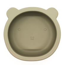 Load image into Gallery viewer, Chews Domi | Silicone Modern Bear Suction Bowl (Sage)