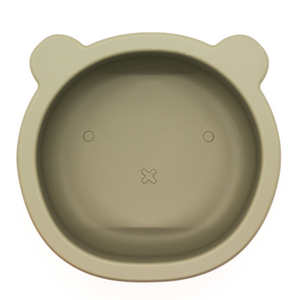 Chews Domi | Silicone Modern Bear Suction Bowl (Sage)