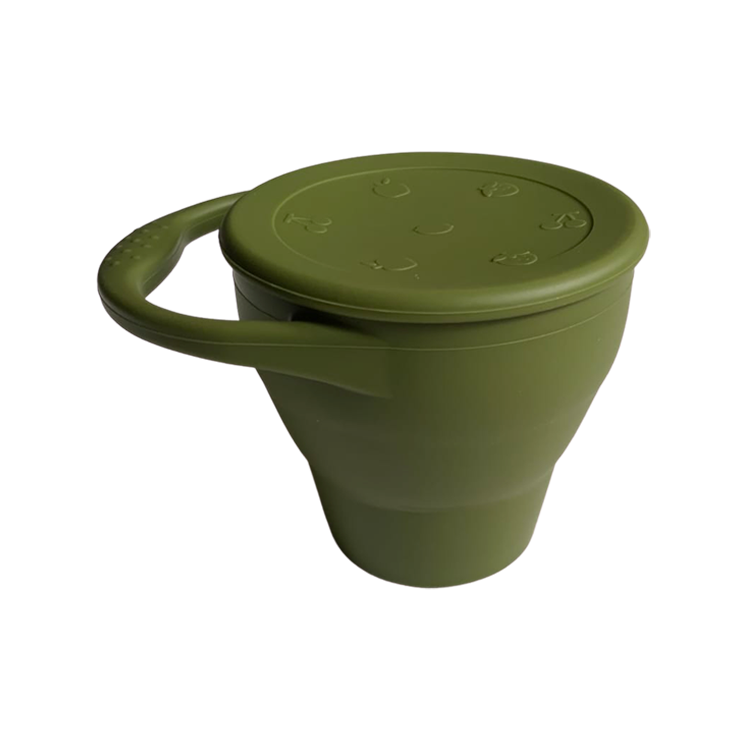 Chews Domi | Silicone Snack Cup in Monstera