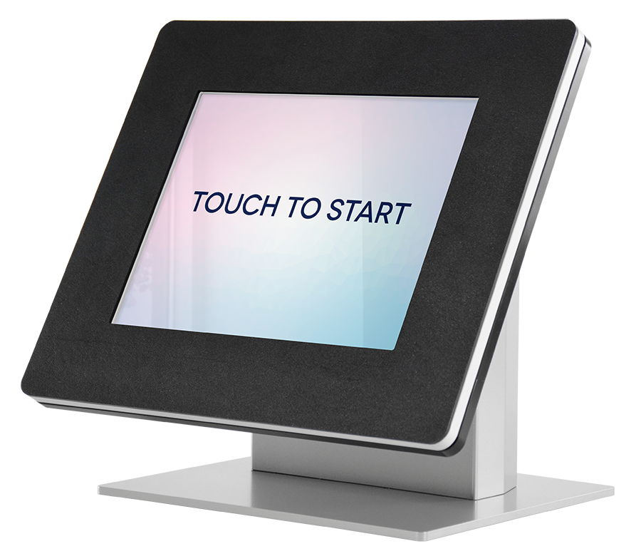 We offer a Countertop model if you need a tabletop kiosk.