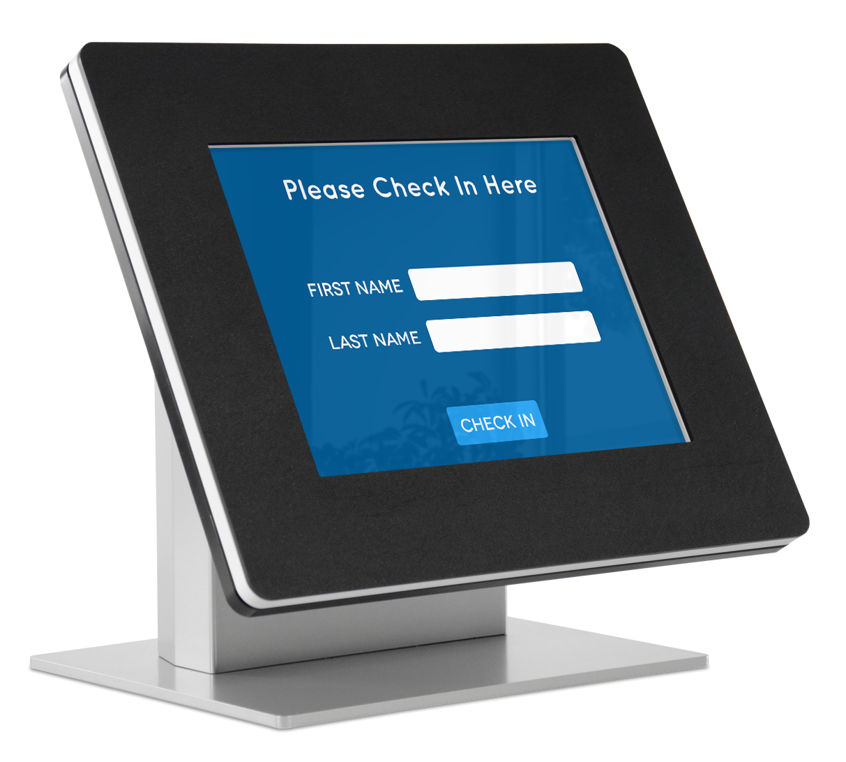 Use a kiosk for visitor check in.