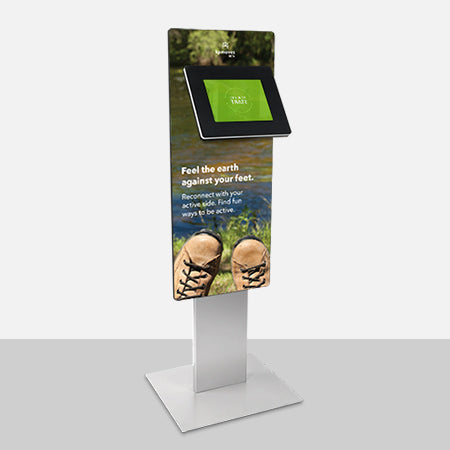 Add a graphic panel to your kiosk to inform visitors.