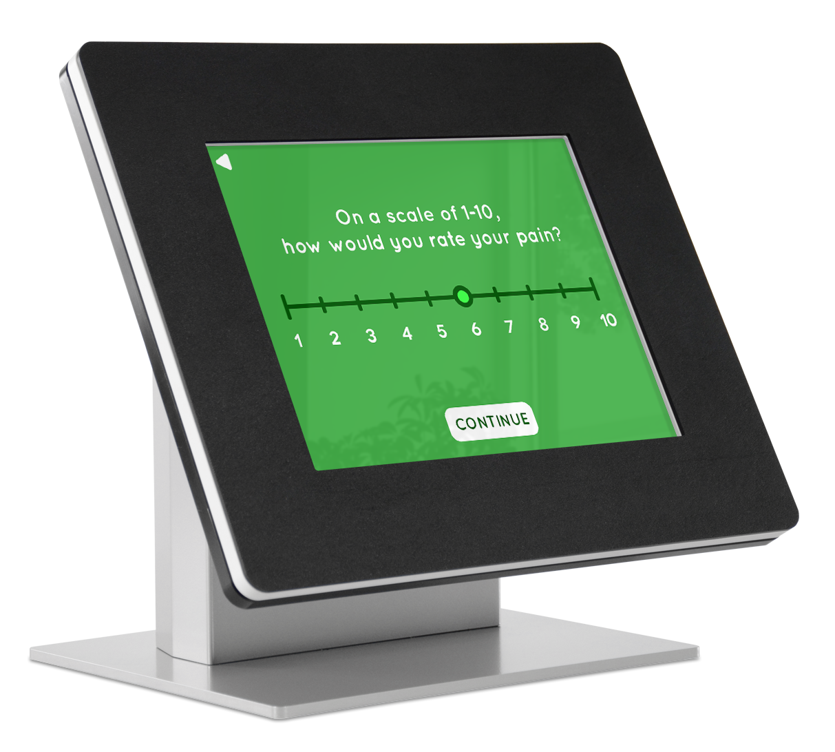 Use a kiosk to offer health surveys to patients while they wait.