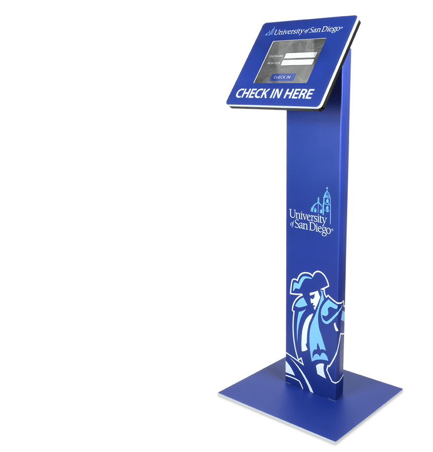 Wrap your kiosk with graphics that portray your brand.