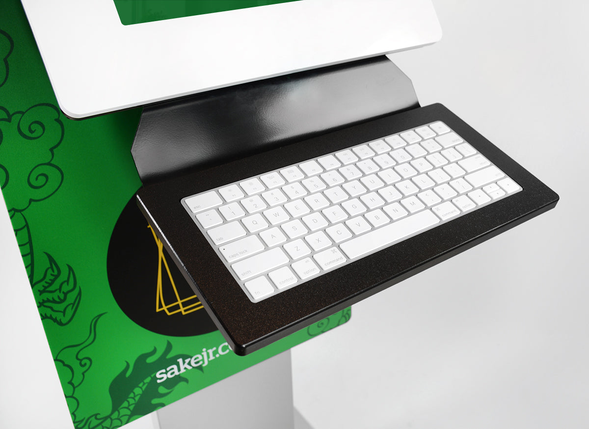 Customize your kiosk with a keyboard tray.