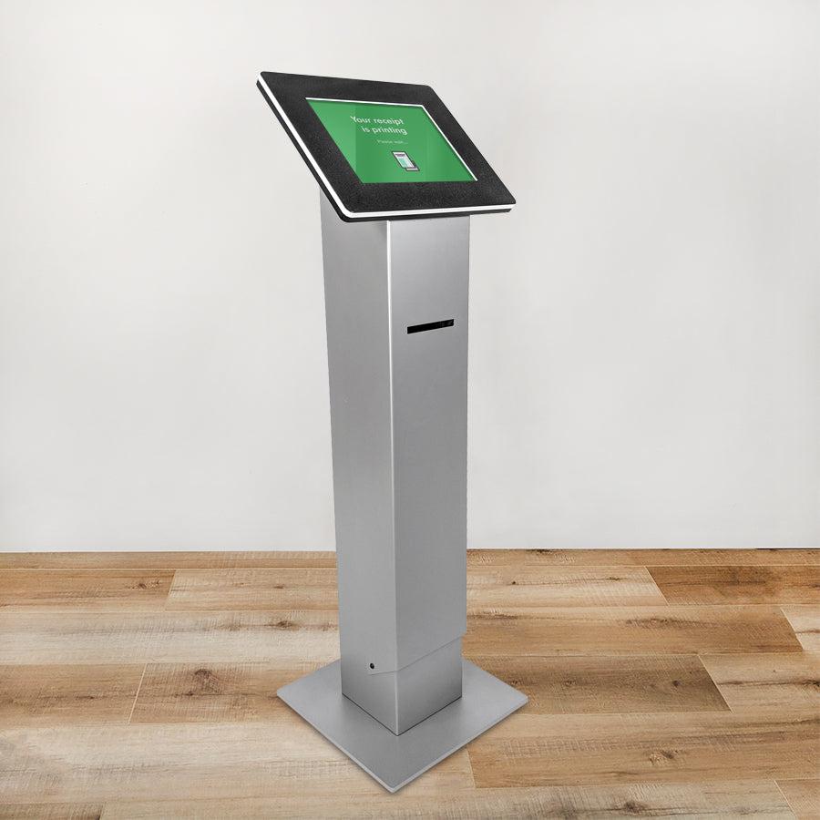 Our Roo Printer Tablet Kiosk is made from cold-rolled steel for a stable design.