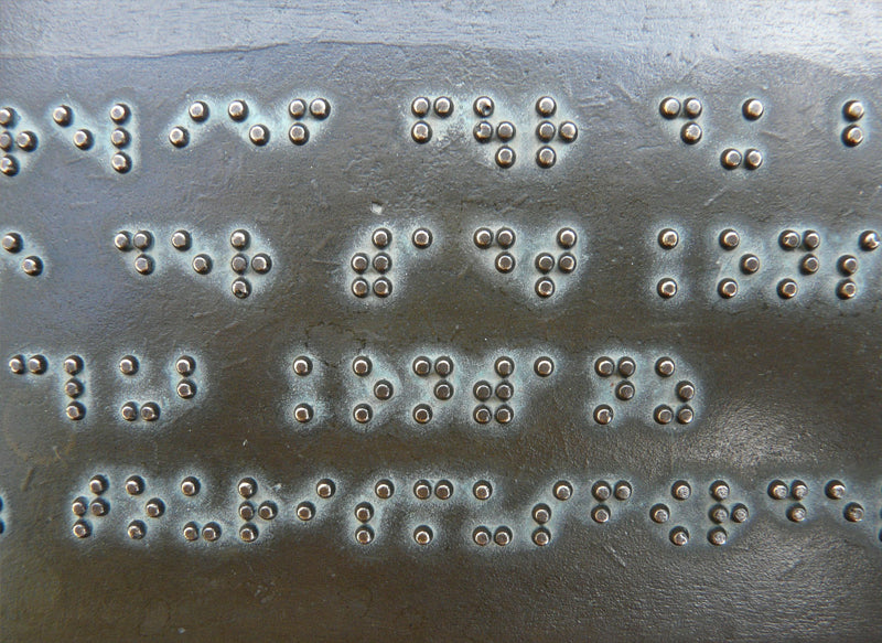 An example of braille.