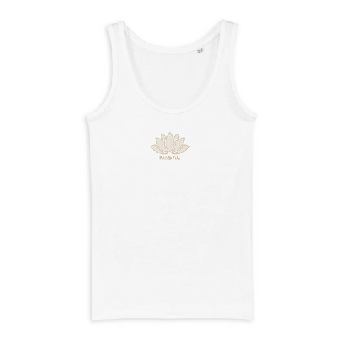 Women´s Geo Lotus Tanktop (Gold small logo)