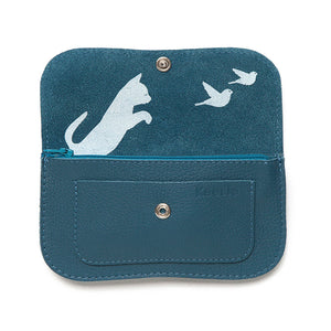 Keecie | Portemonnee Cat Chase Medium faded blue