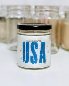 Blue USA Scented Candle | 9 oz or 16 oz | Novelty Candle