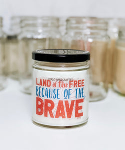 Land of the Free Scented Candle | 9 oz or 16 oz | Novelty Candle