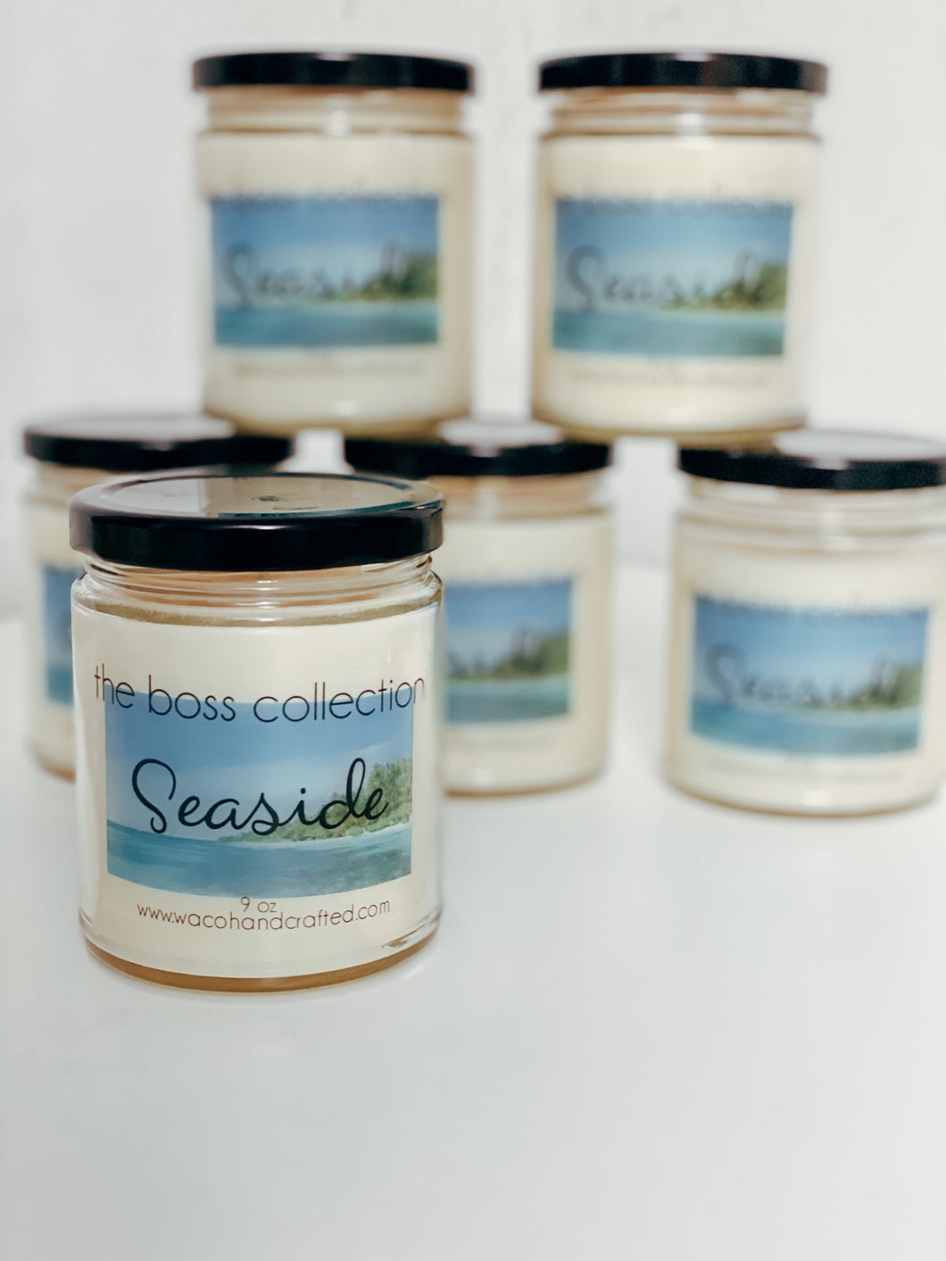 Seaside 9 oz Scented Candle - Waco Handcrafted