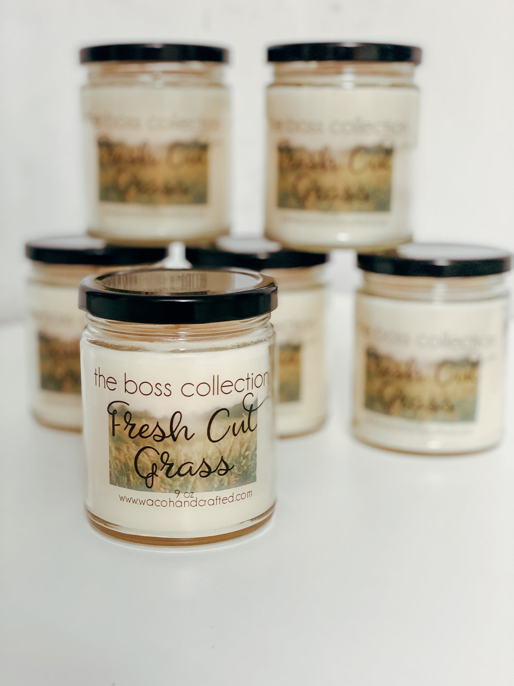 Fresh Cut Grass 9 oz Scented Candle - Waco Handcrafted