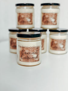 Coconut Caramel 9 oz Scented Candle - Waco Handcrafted