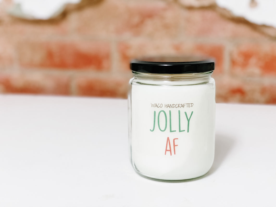 2020 HOLIDAY COLLECTION | JOLLY AF | CHRISTMAS NOVELTY CANDLE