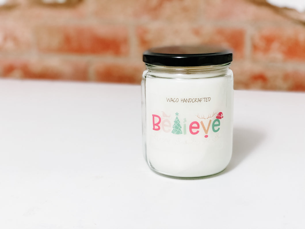 2020 HOLIDAY COLLECTION | BELIEVE | CHRISTMAS NOVELTY CANDLE