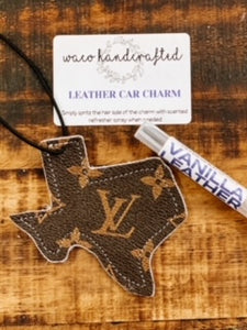 LV Texas Leather Car Charm