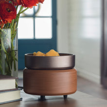 Load image into Gallery viewer, Pewter Walnut 2-In-1 Wax Warmer