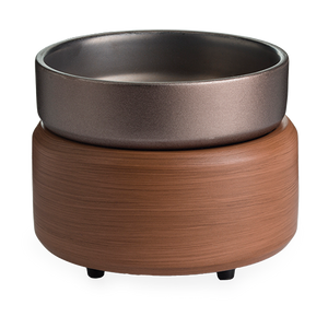 Pewter Walnut 2-In-1 Wax Warmer