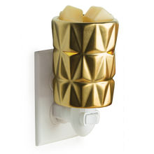 Load image into Gallery viewer, Gold Facets Pluggable Wax Warmer