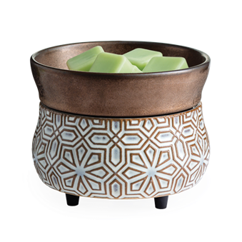 Bronze Geometric 2-In-1 Wax Warmer