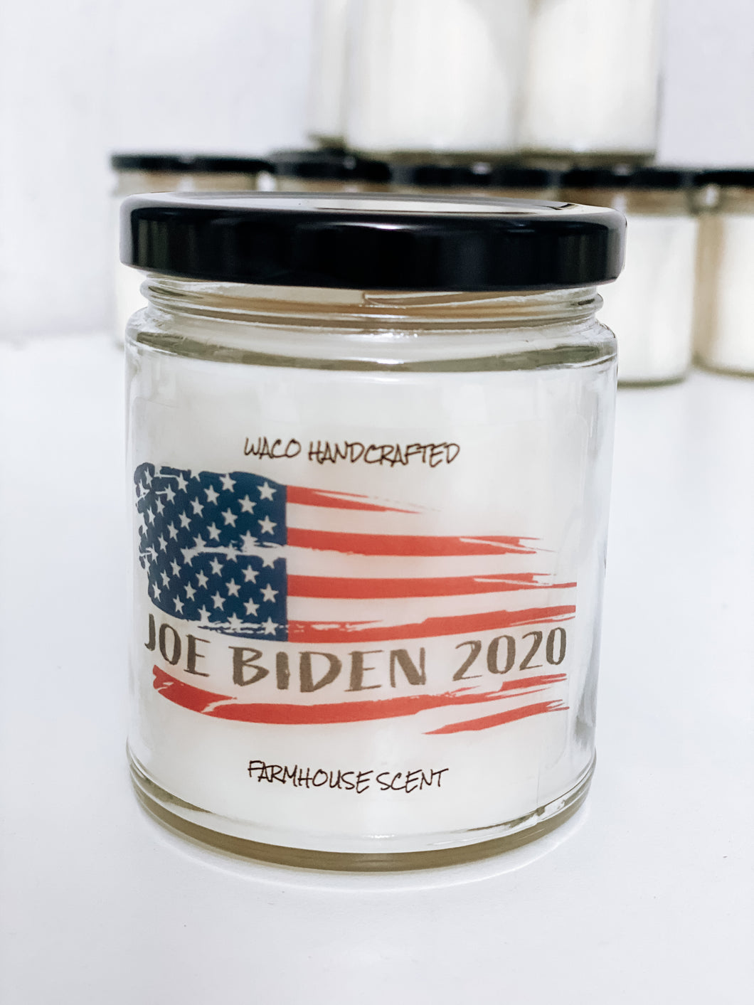 Joe Biden 2020 Flag Scented Candle | 9 oz or 16 oz | Novelty Candle - Waco Handcrafted