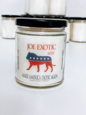 Joe Exotic 2020 Scented Candle | 9 oz or 16 oz | Novelty Candle - Waco Handcrafted