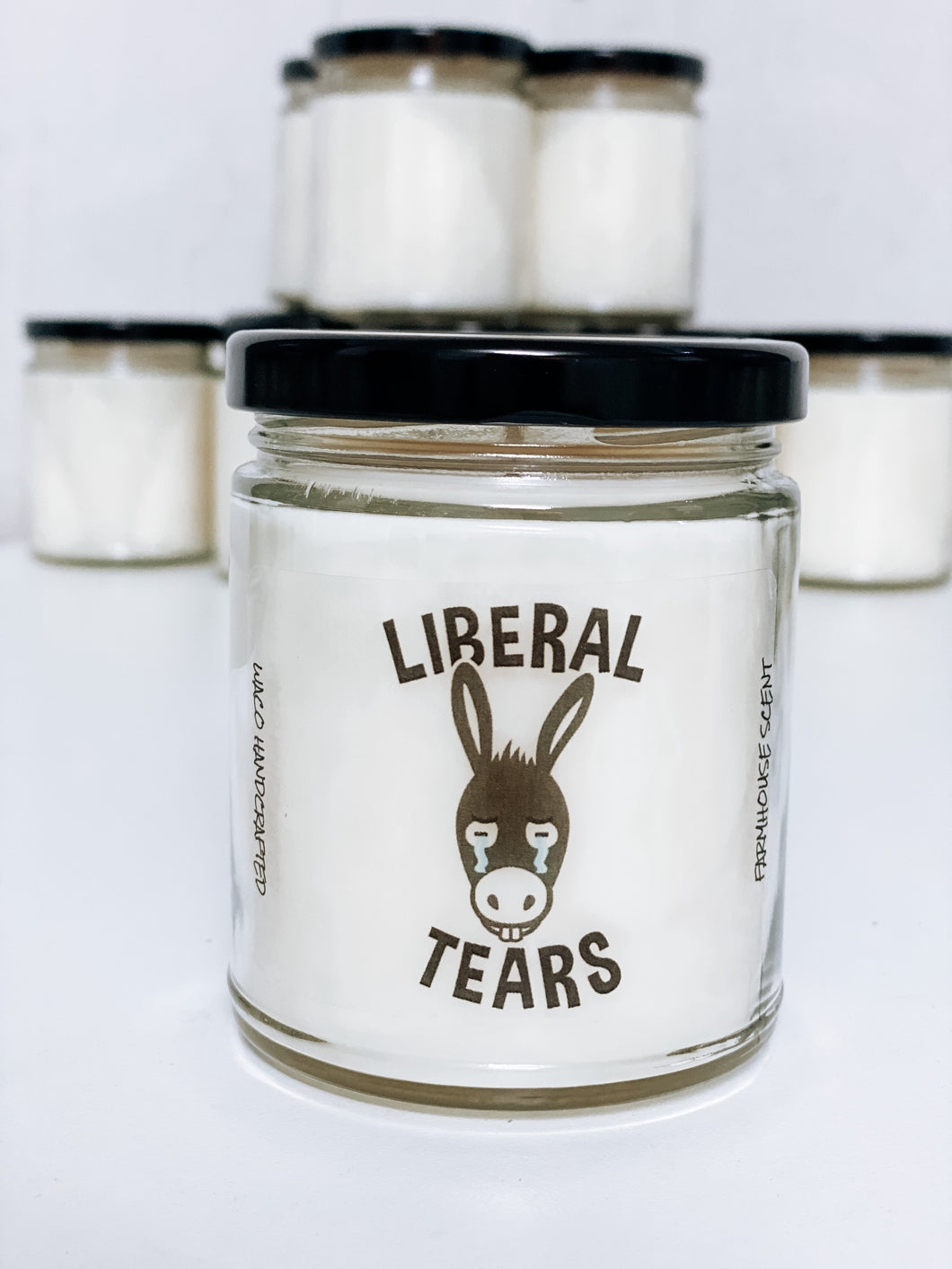 LIBERAL TEARS Scented Candle | 9 oz or 16 oz | Novelty Candle - Waco Handcrafted