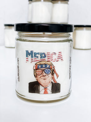 MERICA Scented Candle | 9 oz or 16 oz | Novelty Candle - Waco Handcrafted