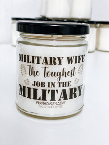 Military Wife Scented Candle | 9 oz or 16 oz | - Waco Handcrafted