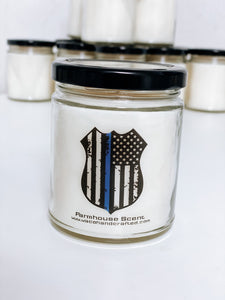 Police Badge Scented Candle | 9 oz or 16 oz | - Waco Handcrafted