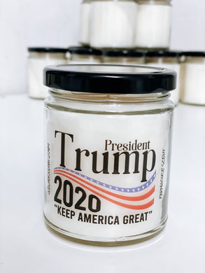 PRESIDENT TRUMP 2020 Scented Candle | 9 oz or 16 oz | Novelty Candle - Waco Handcrafted