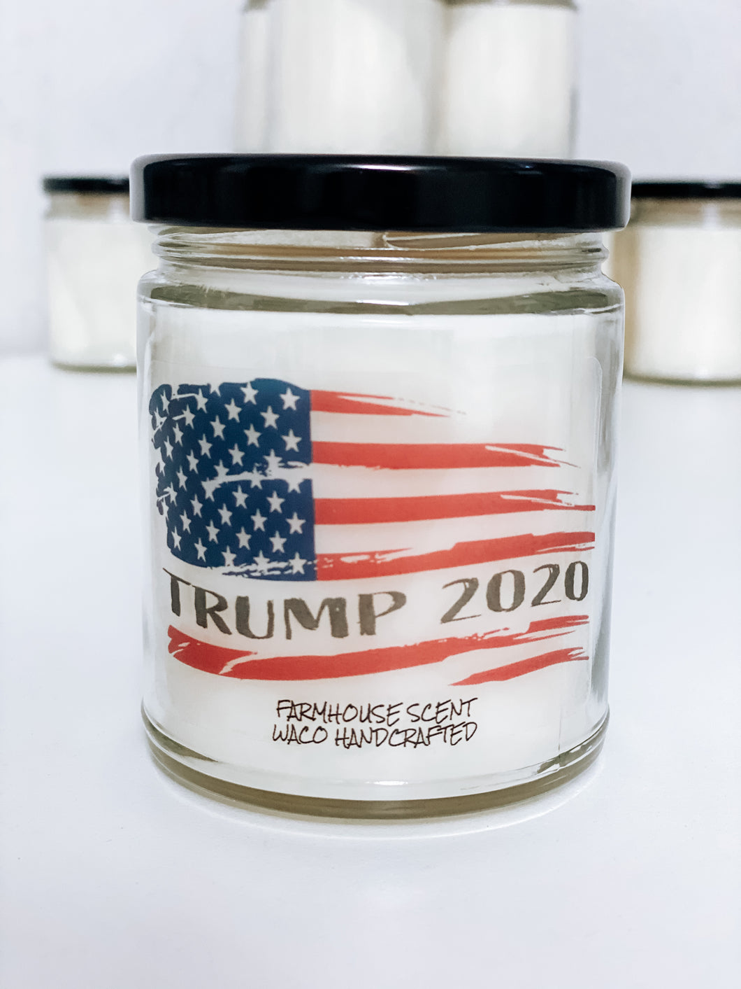 TRUMP 2020 Flag Scented Candle | 9 oz or 16 oz | Novelty Candle - Waco Handcrafted