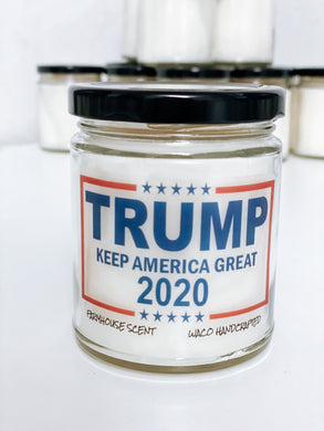 Trump Keep America Great Scented Candle | 9 oz or 16 oz | Novelty Candle - Waco Handcrafted