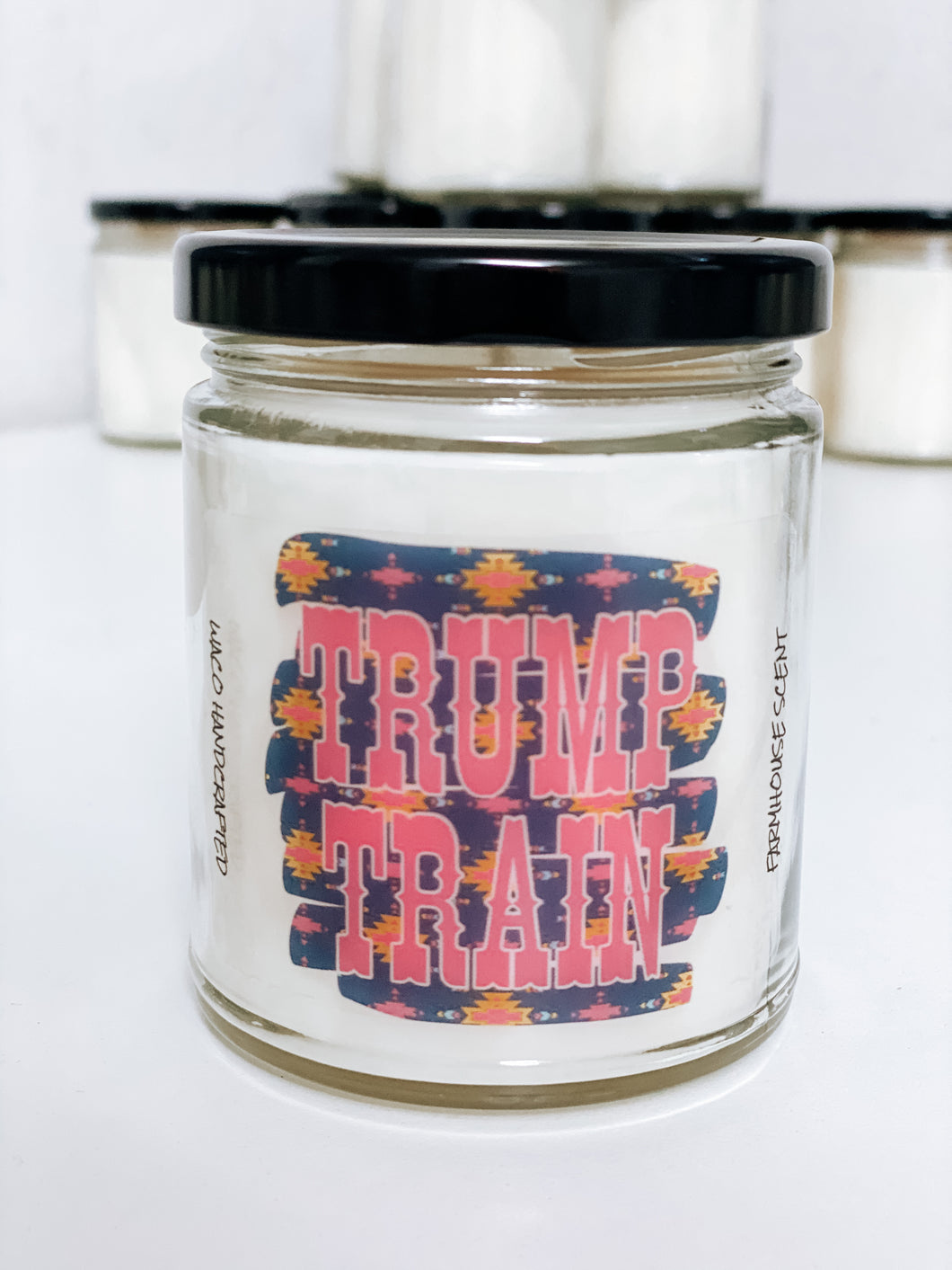 TRUMP TRAIN Scented Candle | 9 oz or 16 oz | Novelty Candle - Waco Handcrafted
